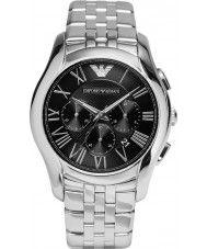 Mens Emporio Armani Mens Classic Chronograph Silver Steel Bracelet Watch 199.00 Watches2U