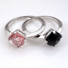 Swarovski Pair of Rings Lea Vintage Rose Ring – Zhannel