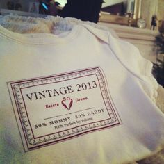 The best vintage there is! The most adorable onesie for my son. @JacNicosia #baby #wine
