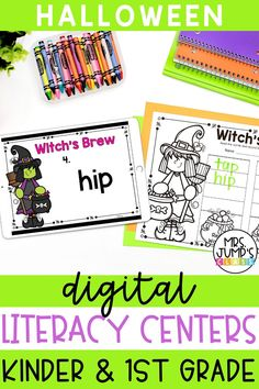 These digital Halloween centers for kindergarten are a great way to infuse technology into your classroom while also addressing important kindergarten literacy skills. Use them all October long!