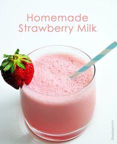Homemade Strawberry Milk Recipe - Cooking | Add a Pinch | Robyn Stone