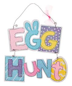 Another great find on #zulily! Easter 'Egg Hunt' Wall Art #zulilyfinds
