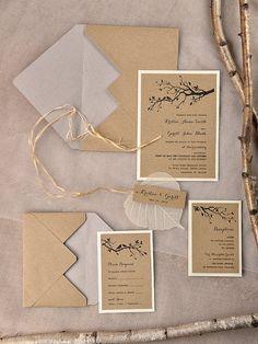 Custom listing 20 Rustic Wedding Invitation by forlovepolkadots