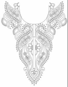 Kameez Neck Line Embroidery Design Imagine this on your back. Going across your…