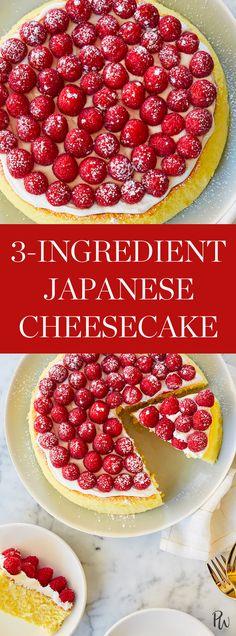 3-Ingredient Japanese Cheesecake  #purewow #cooking #dessert #food #baking #recipe #cake