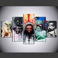 Star Wars 5 Character Canvas - free shipping worldwide