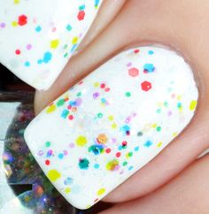Twinkle Lights Colorful Glitter Nail Polish Topper by BaronessX