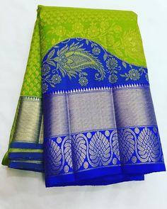 Pure Kanchipuram silk sarees Shipping free in India Price on request . To buy , please direct message Silk Saree Kanchipuram, Chanderi Silk Saree, Cotton Saree, South Silk Sarees, Pure Silk Sarees, Red Saree, Saree Dress, Sari Blouse, Saree Color Combinations