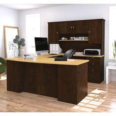 Bestar Manhattan Executive Desk with Hutch & Reviews | Wayfair