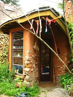 What a great art studio space! cob house by glowingz, via Flickr