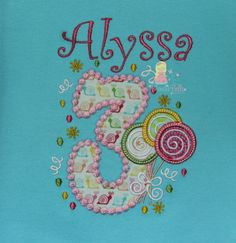 Personalized Candy Birthday Shirt by BlondieBelleBoutique on Etsy