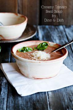Creamy Tomato Basil #Soup #Recipe - #cream #cheese