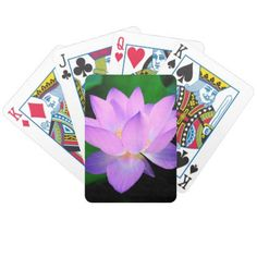 Lilac Lotus Flower Bicycle Playing Cards  $22.15  by MissMatching  - cyo diy customize personalize unique