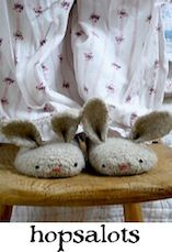if i made these for myself they would be giant vorpal bunny slippers,,, but they would still be cute :)