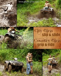 Country Girls slip & slide  Country Girls grip & ride    #senior images  #senior portrait ideas  #country senior portrait images