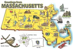 Massachusetts is a state in the New England region with capital Boston ...