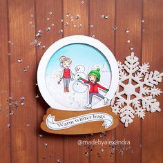 Snow globe - Isabel Cristina stamps
