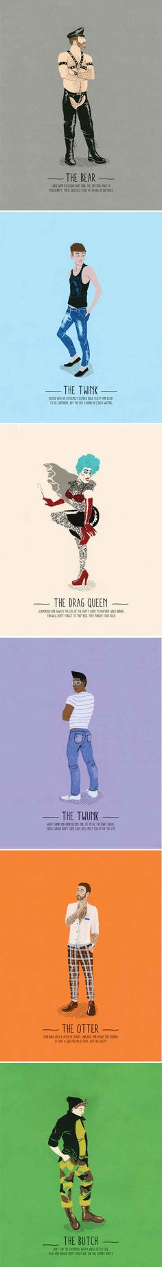 """""""A Guide to Gay Stereotypes"""" Poster Series 