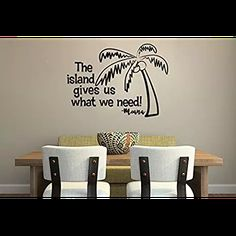 Inspired by Moana Maui The Island Gives Us What We Need Wall Decal Sticker Lyrics Inspired by Moana Maui #luckygirl #luckygirldecals #walldecal #wall #decal #sticker #wallart #quote #quotes #lettering #decorate #vinyl #oracal #oracal631 #interior #removable #amazon #ebay