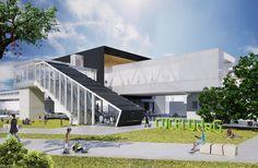 Auditorium Architecture, Museum Architecture, Cultural Architecture, Concept Architecture, Amazing Architecture, Modern Architecture, Urban Design Concept, Healthcare Architecture, Conceptual Design
