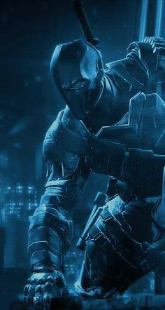 Batman Arkham Origins Deathstroke Batman, Deathstroke The Terminator, Comic Book Characters, Comic Books Art, Comic Art, Superman, Im Batman, Dc Comics Peliculas, Harley Quinn