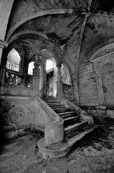Derelict interior Limousin, France, via Flickr.