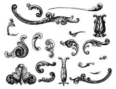 Engraved Ornaments From Old Currency Vector Free Happy New Year Free Vector Ornaments, Vector Design, Vector Art, Geometric Font, Decoupage, Vintage Banner, Blackwork Patterns, Collage Techniques, Engraving Illustration