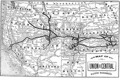 Map of the Union and Central Pacific Railroads, Traveler's RR Guide, 1882