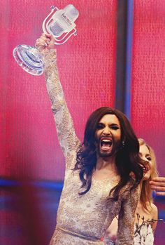 Conchita Wurst Most Prominent Drag Queen Me Thinks Currently French Maid Dress, Girls Aloud, Gender Studies, Cheryl Cole, Pep Talks, I Am A Queen, Beautiful Moments, Listening To Music, Lady Gaga