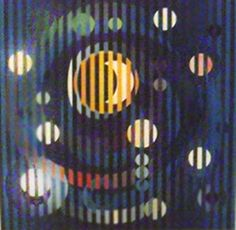 "Yaacov Agam       ""Sun and Moon Romance""     Giclee on Canvas        BA"