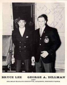 bruce lee wife   Bruce Lee with George Dillman - bruce-lee Photo