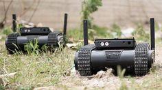 Israeli mini tank drone armed with Glock 9mm