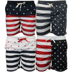 4th of july swim trunks