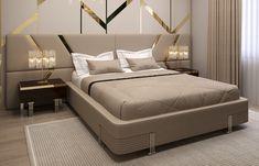 Modern Luxury Bedroom, Luxury Bedroom Design, Master Bedroom Interior, Room Design Bedroom, Bedroom Furniture Design, Bed Furniture, Best Bed Designs, Double Bed Designs, Ceiling Design Living Room