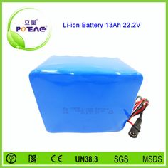 24V 13Ah rechargeable 18650 li-ion battery pack