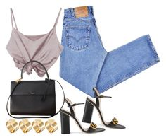 A fashion look from June 2017 featuring high waisted jeans, strappy sandals and Yves Saint Laurent. Browse and shop related looks. Stylish Outfits, Fashion Outfits, Womens Fashion, Fasion, Fashion Trends, Polyvore Outfits, Polyvore Fashion, Fashion Killa, Summer Outfits