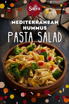 Pasta salad is the best of both worlds—healthy, crunchy veggies, and undeniably delicious pasta. This Friendsgiving, we're adding a twist to this classic side dish with our vegetarian Mediterranean…More Vegetarian Recipes, Cooking Recipes, Healthy Recipes, Fruits And Vegetables List, Seasonal Fruits, High Fiber Fruits, Mediterranean Diet Recipes, Mediterranean Pasta, Pasta Salad Recipes