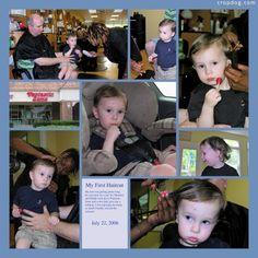 Photo Collage First Hair Cut