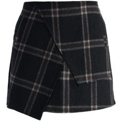 Chicwish Asymmetric Tartan Wool-blend Bud Skirt (100 BRL) ❤ liked on Polyvore featuring skirts, bottoms, faldas, saias, green, asymmetrical skirt, chicwish skirt, green asymmetrical skirt, plaid skirt and green plaid skirt