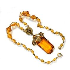 Vintage Czech glass necklace