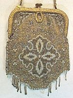 antique gold & silver mesh evening bag $129