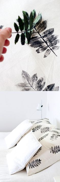 Cojines con motivos naturales / http://www.tres-studio-blog.com/