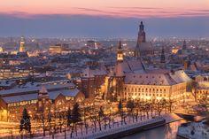 Wrocław by night (Poland) - null
