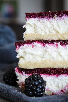 Delicious Keto Blackberry Cheesecake Bars (also known as Blackberry Bliss Bars) are easy, convenient and will fool even family and friends who aren't keto! recipes easy recipes easy recipes easy recipes easy easy appetizers easy on a budget Keto Cheesecake, Blackberry Cheesecake, Cheesecake Brownies, Chocolate Cheesecake, Keto Friendly Desserts, Low Carb Desserts, Low Carb Recipes, Easy Desserts, Yam Recipes
