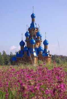 Russian landscape with a wooden church. Russian Architecture, Church Architecture, Beautiful Architecture, Beautiful Buildings, Beautiful World, Beautiful Places, Russian Landscape, Russian Culture, Christian Church