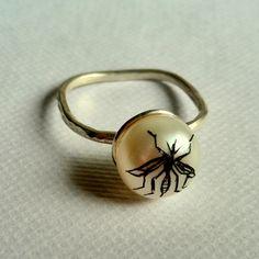 Mosquito Pearl Ring. Georgina Taylor