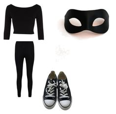"""Secret agent uniform"" by smilelykristenjoy on Polyvore featuring River Island, Boohoo, Converse and Masquerade"