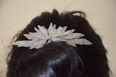 bridal hair comb, wedding hair comb, bridal hair piece, silver leaf vintage hair comb, bridal comb, wedding comb, leaf comb
