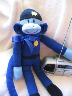 Police Sock Monkey oooooh I want one!