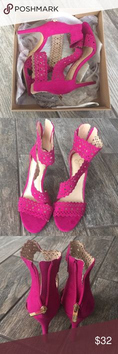 c206d50b8 Jessica Simpson fuchsia pink heels Beautiful Jessica Simpson fuchsia pink  heels. Excellent condition. Only